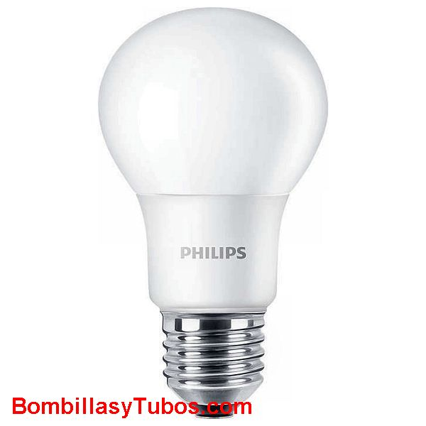 Bombilla PHILIPS Corepro led   8w-60w E27 3000k - Lampara Philips Corepro led 8w-60w E27 3000k  luz calida.