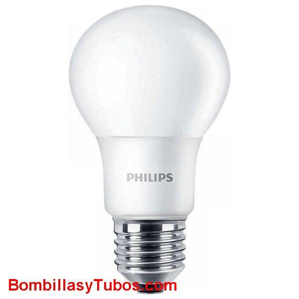 Bombilla led Philips  230v 7.5w-60w e27 840 - Lampara led 7.5w equivalente a 60w 806 lumenes 4000k luz fria neutra