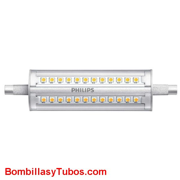 Philips corepro Lineal 117mm 230v 14-100w 830 regulable - Lampara Philips led Lineal 118mm r7s 14w-100w 3000k