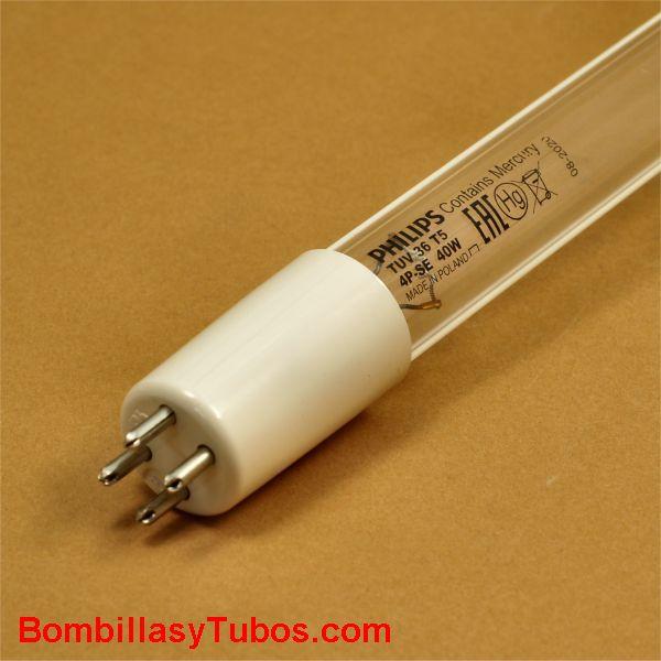 Fluorescente T5 36T5 4P SE 40w GERMICIDA - FLUORESCENTE T5 40W GERMICIDA  TUV 36T5 4P SE   base: 4P SE