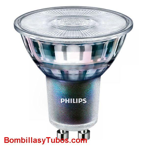 Philips Ledspot ExpertColor 230v 3.9-35w 4000k 36° irc 97 - Lampara led gu10 cristal 3.9-35w irc 97 4000k 36°. Philips Expertcolor. Excelente indice de reproduccion de los colores