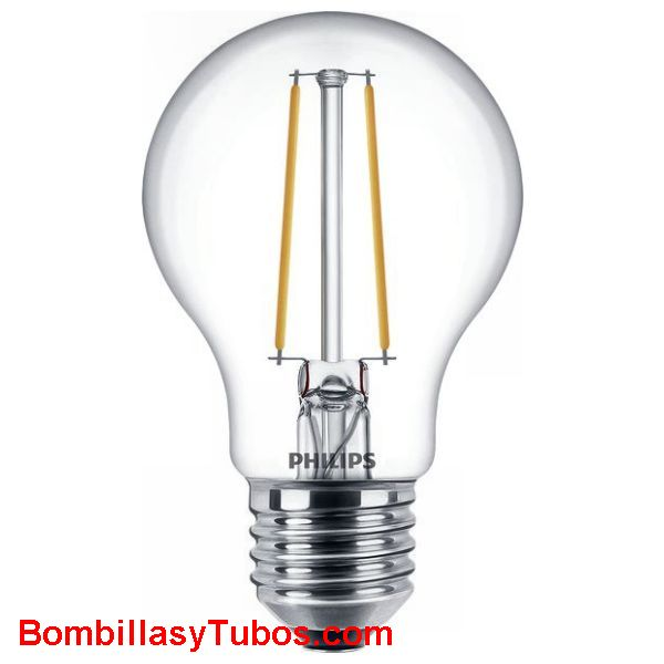Bombilla Led Philips  5,5-40w 827 470 lumenes - Lampara led Estándar filamento 5.5w-40w 470 lumenes 2700k regulable