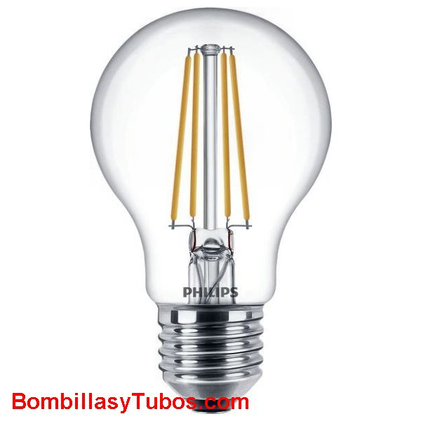 Bombilla Led Philips  7,5-60w 827 806 lumenes - Lampara led Estándar filamento 7.5w-60w 806 lumenes 2700k regulable