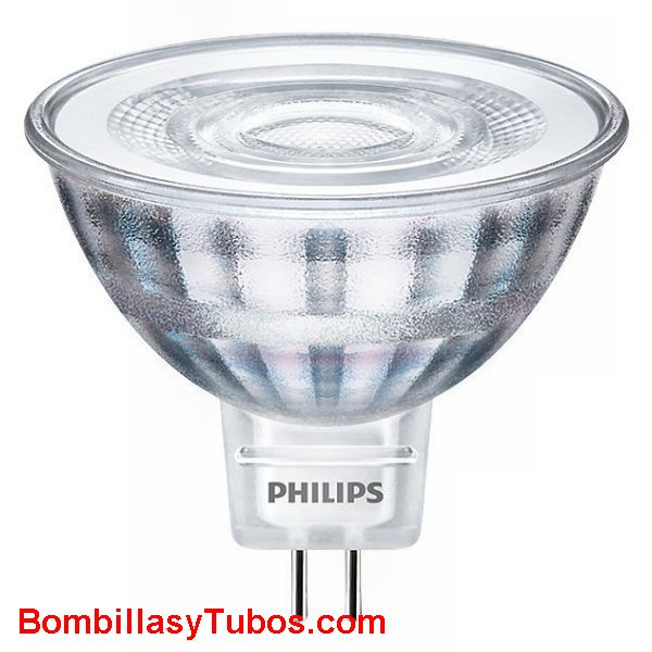 Bombilla led Philips MR16  12v 5-35w 827 36° 390 lm - Lampara Led MR16 5w-35w 36° 390 lumenes 2700k luz calida 12v