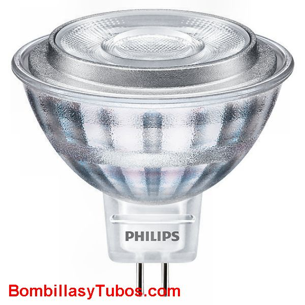 Bombilla led Philips MR16  12v 8-50w 830 36° 621 lm - Lampara Led MR16 8w-50w 36° 621 lumenes 3000k luz calida neutra 12v