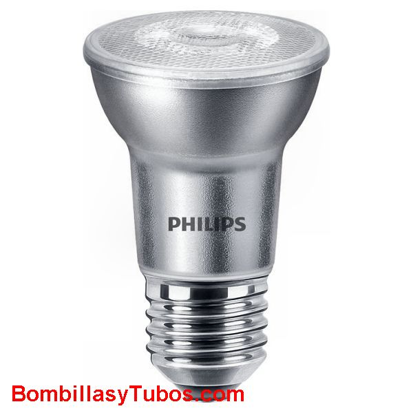 Bombilla Led Philips Par-20 6-50w 2700k 25° 480 lm - Lampara Led Par20 6w-50w 25° 480 lumenes 2700k luz calida