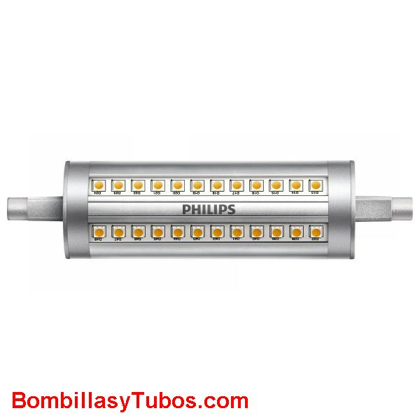 Bombilla Led Philips R7s 14-120w 830 regulable - Lampara led R7s 14w-120w 3000k luz calida neutra regulable. 2000 lumenes