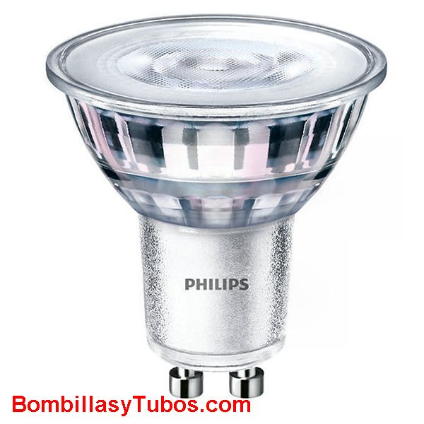 Bombilla Philips gu10 4.6-50w 830 36° 390 lumenes - Lampara led Gu10 4.6w-50w 36 grados 3000k blanco calido neutro ledspot 390 lumenes