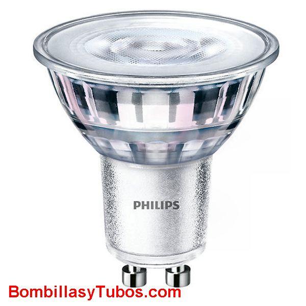 Bombilla Philips gu10 4.6-50w 827 36° 370 lumenes - Lampara led Gu10 4.6w-50w 36 grados 2700k blanco calido ledspot 370 lumenes