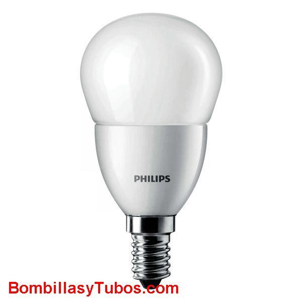 Philips Corepro LedEsferica Mate 4-25w e14 827 - Lampara Philips Corepro Esferica 4-25w e14 2700k mate