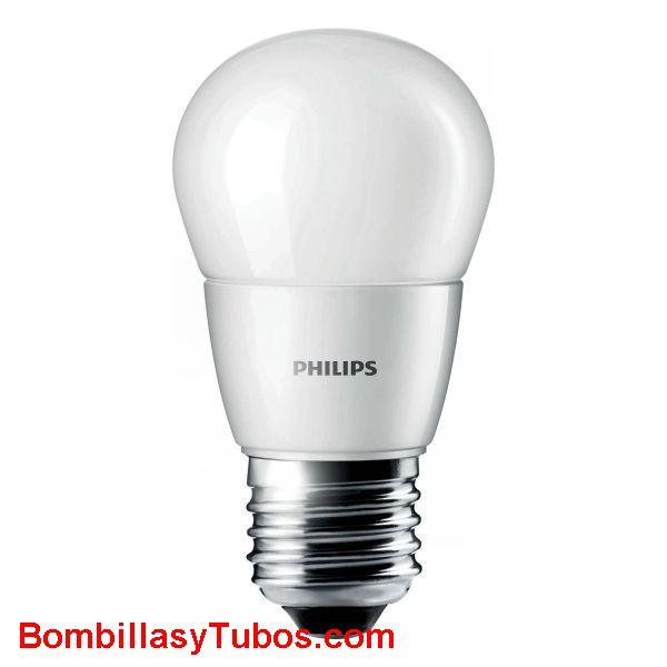 Philips Corepro LedEsferica Mate 230v 4-25w e27 827 - Lampara Philips Corepro Esferica 230v 4-25w e27 2700k mate