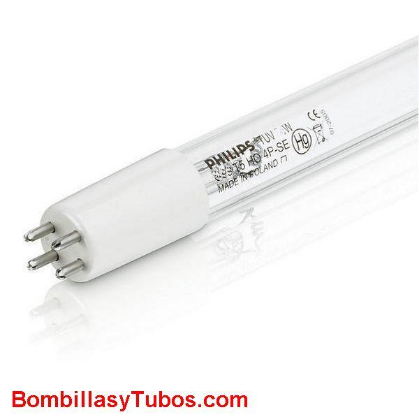 Fluorescente Philips T5 20w 4P ultravioleta C  Germicida - FLUORESCENTE Philips T5 20W 4P SE Ultravioleta-C,  254 nanometros accion germicida