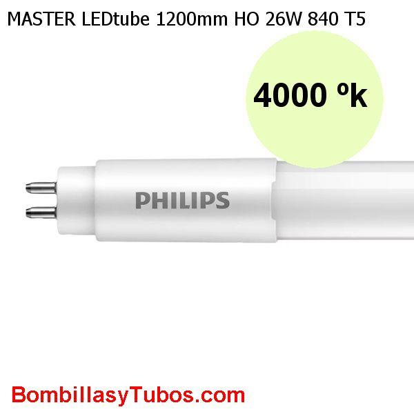 Tubo T5 LED Philips 120cm HO 26w 3900lm 4000k. Reemplazo 49w