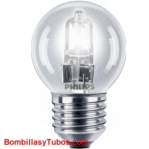 Philips ECO HALOGEN ESFERICA E27 28w - Bombilla halogena eco 28w. Sustituye a la bombilla de 40w de toda la vida. ahorrando un 30%