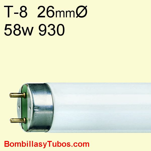 FLUORESCENTE T8 58w/930 - MASTER TL-D 58w/930   temp. color: 3000k (calido)