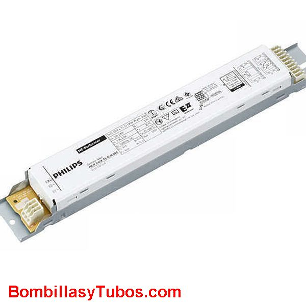 Philips HF-P 118 TL-D E III - BALASTO HF-PERFOMER TL-D  HF-P 118 TL-D III  Para 1 tubo T8 18w  Medidas: 280x30x28mm  Codigo:91158900. 911589xx, 911589