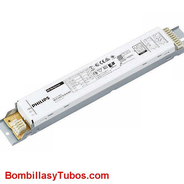 Philips HF-P 218 TL-D III - BALASTO HF-PERFOMER TL-D  HF-P 218 TL-D III  Para 2 tubos T8 de 18w  Medidas: 280x30x28mm  Codigo:91160200. 911602xx, 911602