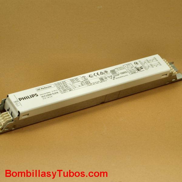 Philips HF-P 236 TL-D III - BALASTO HF-PERFOMER TL-D  HF-P 236 TL-D E II  Para 2 tubos T8 de 36w  Medidas: 280x30x28mm  Codigo:91166400. 911664xx, 911664