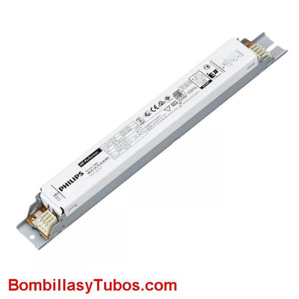 Philips HF-P 158 TL-D III - BALASTO HF-PERFOMER TL-D  HF-P 158 TL-D III  Para 1 tubo T8  58w  Medidas: 280x30x28mm  Codigo:91170100. 911701xx, 911701