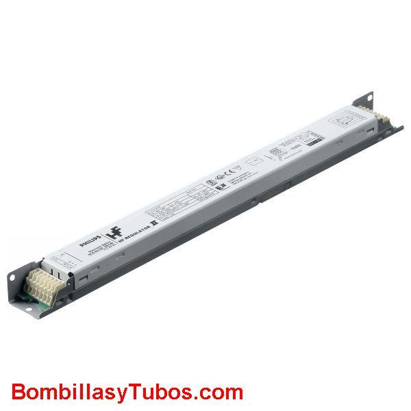 Philips HF-R 1-10V 4 14w TL-5  E II - BALASTO HF-REGULATOR 1-10V TL-5  HF-R 1-10V 414 TL-5 E II  Para 4 tubo T5 14w  Medidas: 359x39x22mm  Codigo:91364730. 913647xx