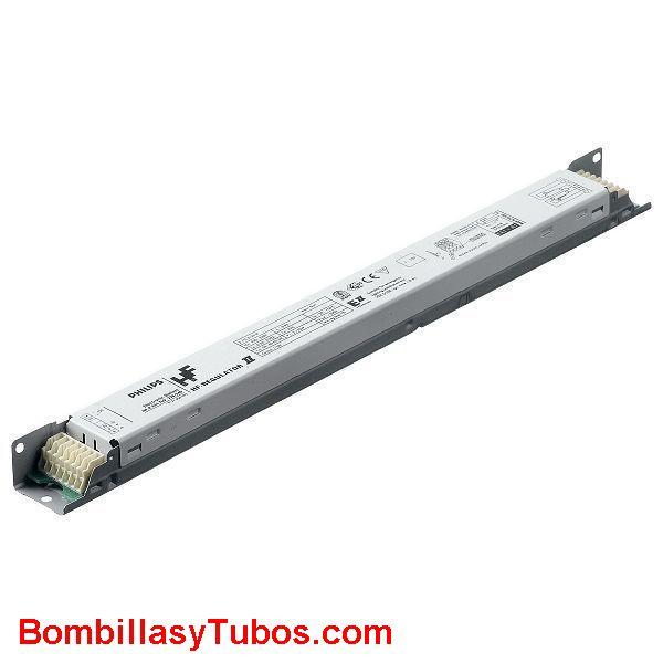 Philips HF-R 1-10V 4 24w TL-5  E II - BALASTO HF-REGULATOR 1-10V TL-5  HF-R 1-10V 424 TL-5 E II  Para 4 tubo T5 24w  Medidas: 359x39x22mm  Codigo:91374630. 913746xx