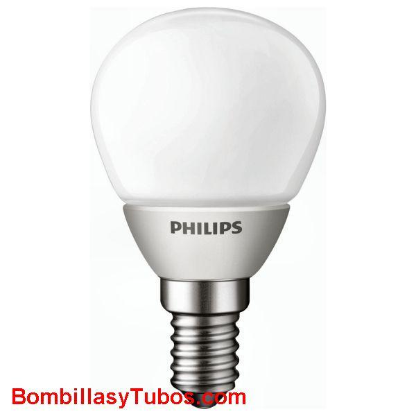 PHILIPS Led esferica e14 mate 3W - LAMPARA LED ESFERICA E14 MATE  3 w.  Ilumina como 15w de incandescencia