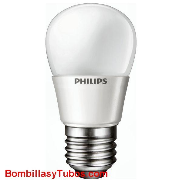 PHILIPS Led esferica E27 mate 3W - LAMPARA LED ESFERICA E27 MATE  3 w.  Ilumina como 15w de incandescencia