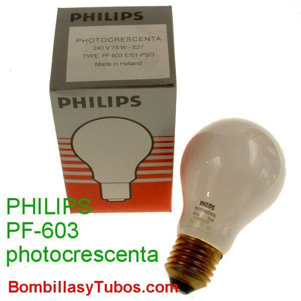 PF 603 PHOTOCRESCENTA 240v 75w - Lampara Photocrescenta pf 603 240v 75w  Para ampliadora.