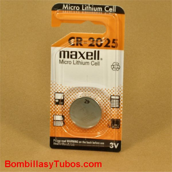 Pila boton litio Maxel CR-2025 3v