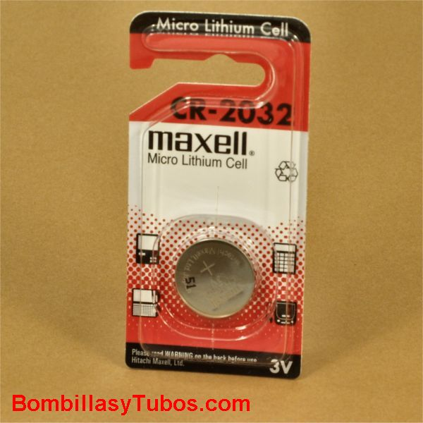 Pila boton litio Maxel CR-2032 3v