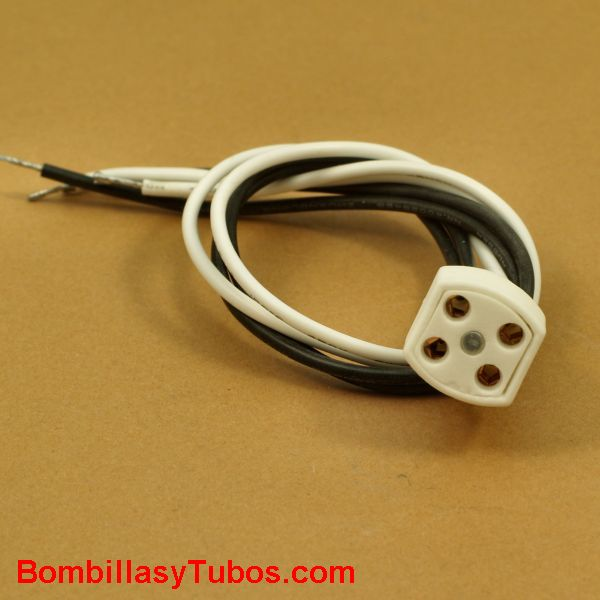 Portalamparas G10q ceramico con cables flexible