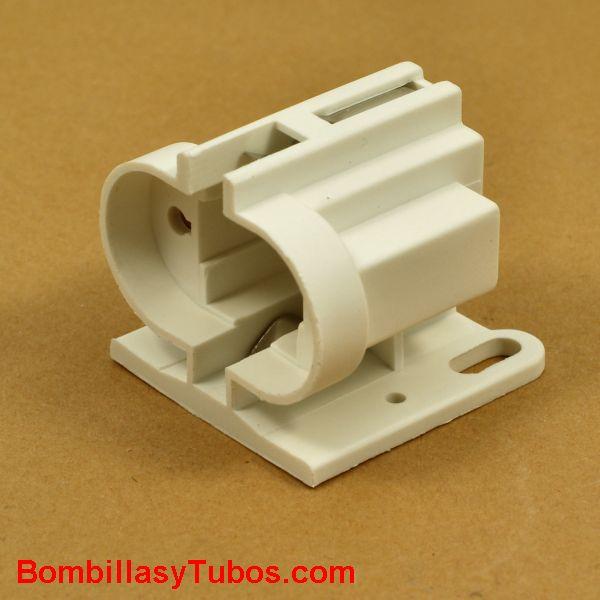 Portalamparas G23 para bombillas  pl-s / dulux-s - Casquillo para  para bombillas tipo pl-s / dulux-s 2 pines. Conexión G23. Fijacion horizontal