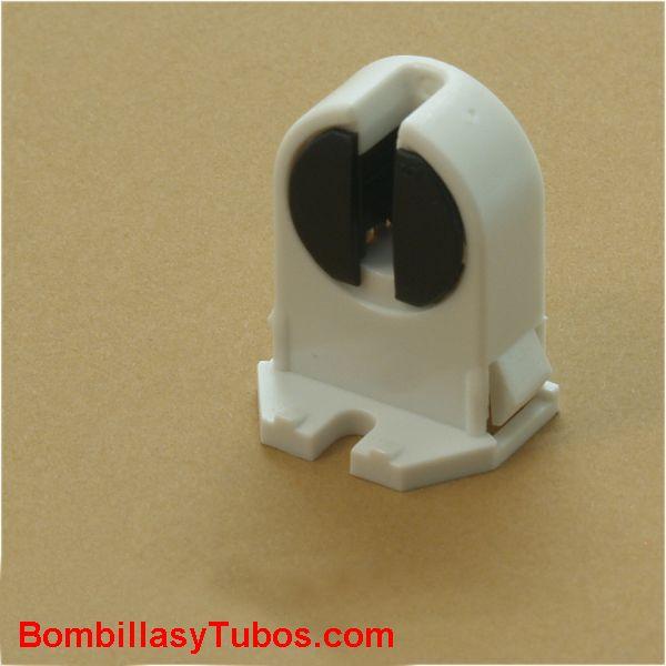 PORTALAMPARAS G5 SENCILLO giratorio - PORTALAMPARAS G5 SENCILLO  Para fluorescentes t5 16mm   fluorescentes tipo tl5. t5, t-5