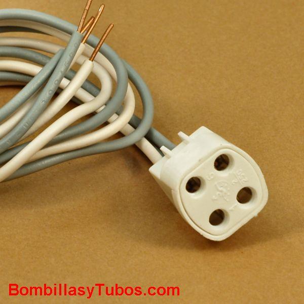 Portalamparas conexión G10Q con cables rigidos