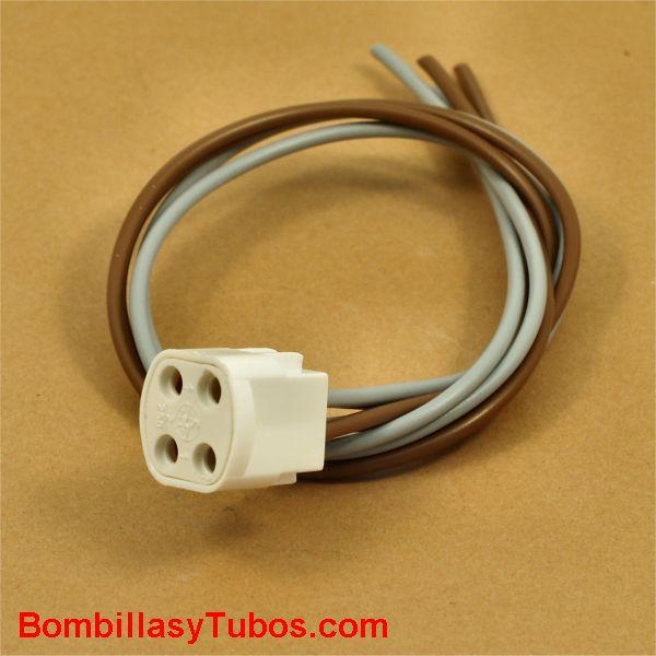 Portalamparas conexión G10q cables flexibles