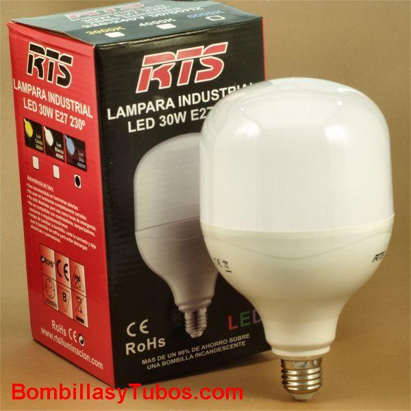 Lampara Led230v  30w 2950 lumenes 6000k - Lampara led de alta potencia rosca e27 30w 2950 lumenes . Luz 6000k luz fria día